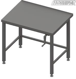Handbiediend in hoogte verstelbare werktafel aanrecht tafel for Tafel hoogte