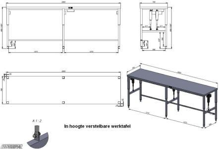 Werktafel hoogte